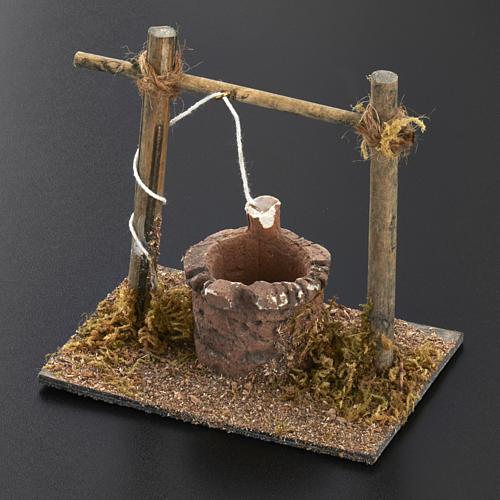 Mini puits crèche Noel 12x11x8 cm 3