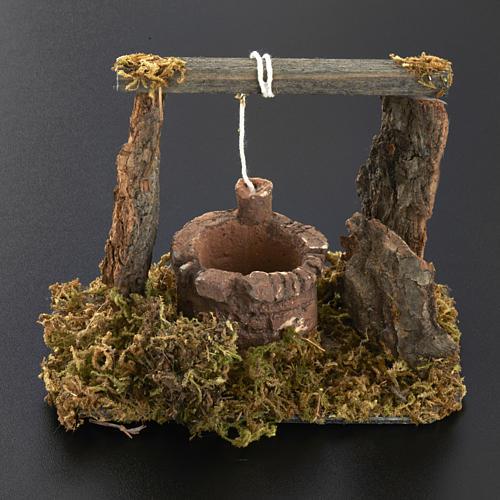 Mini puits crèche Noel 12x11x8 cm 5