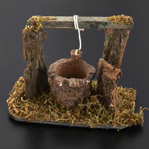 Mini puits crèche Noel 12x11x8 cm 6