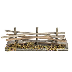 Bridges, streams and fences for Nativity scene: Nativity setting, wooden fence with moss
