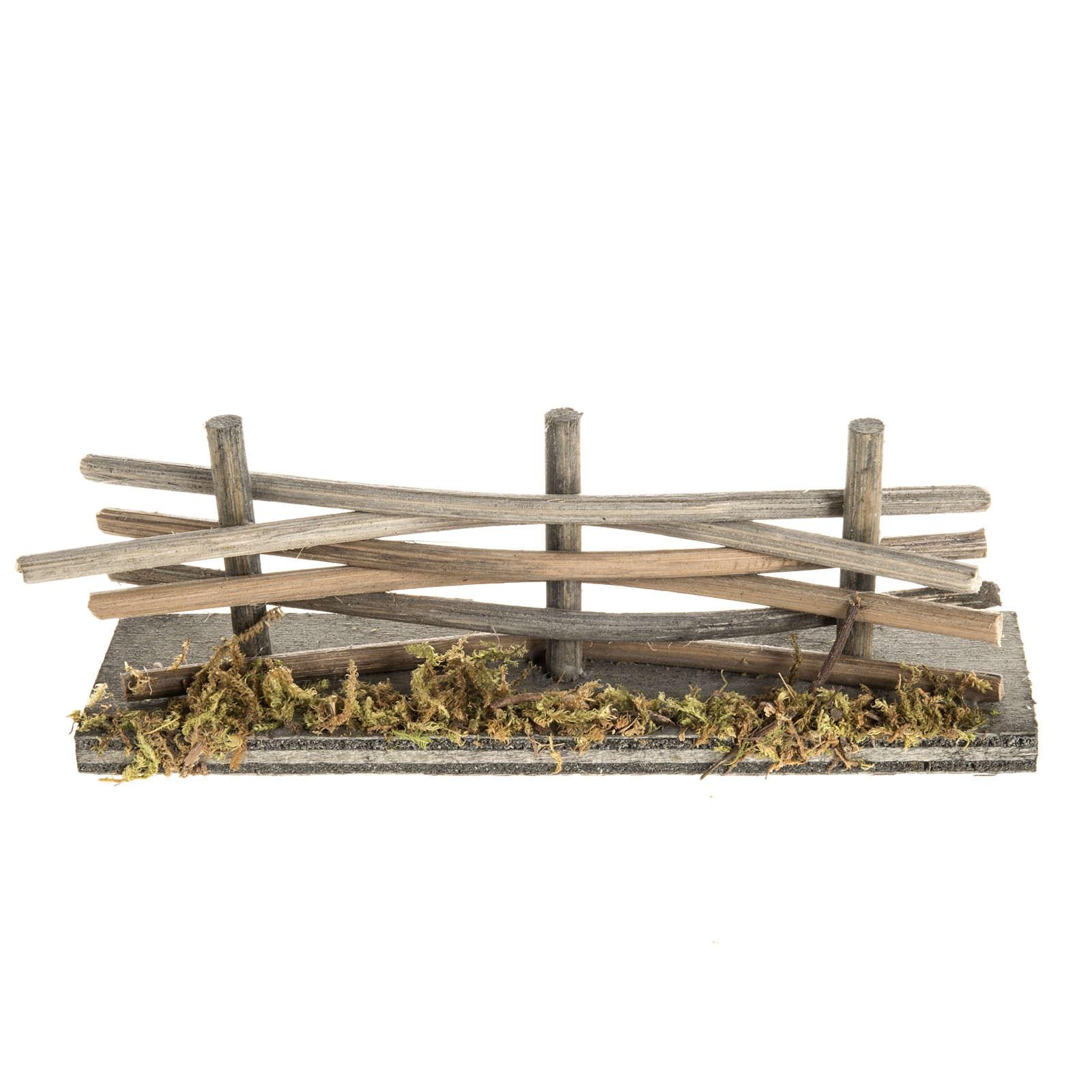 Mini palissade bois avec mousse 4