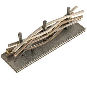 Mini palissade bois avec mousse s2