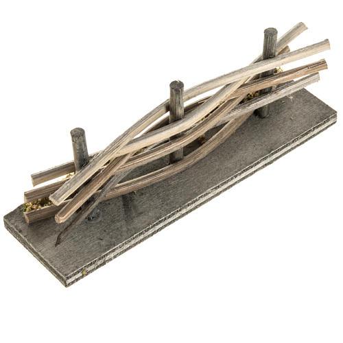Mini palissade bois avec mousse 2