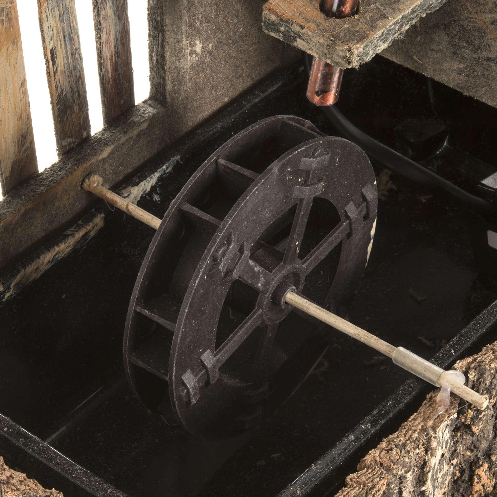 Mulino ad acqua presepe con sughero 2.5w 4