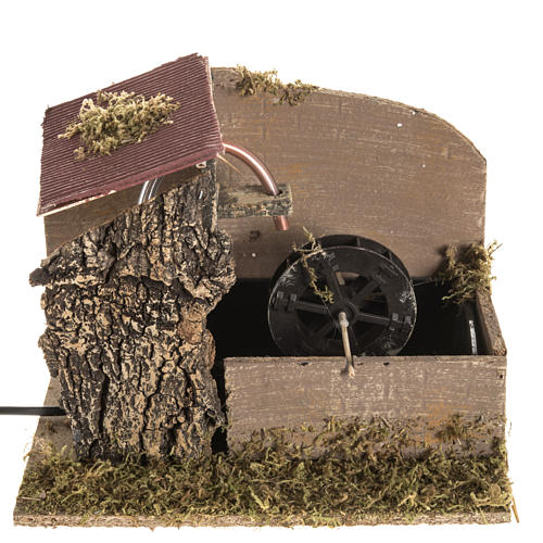 Nativity setting, water mill with house 2,5W 1