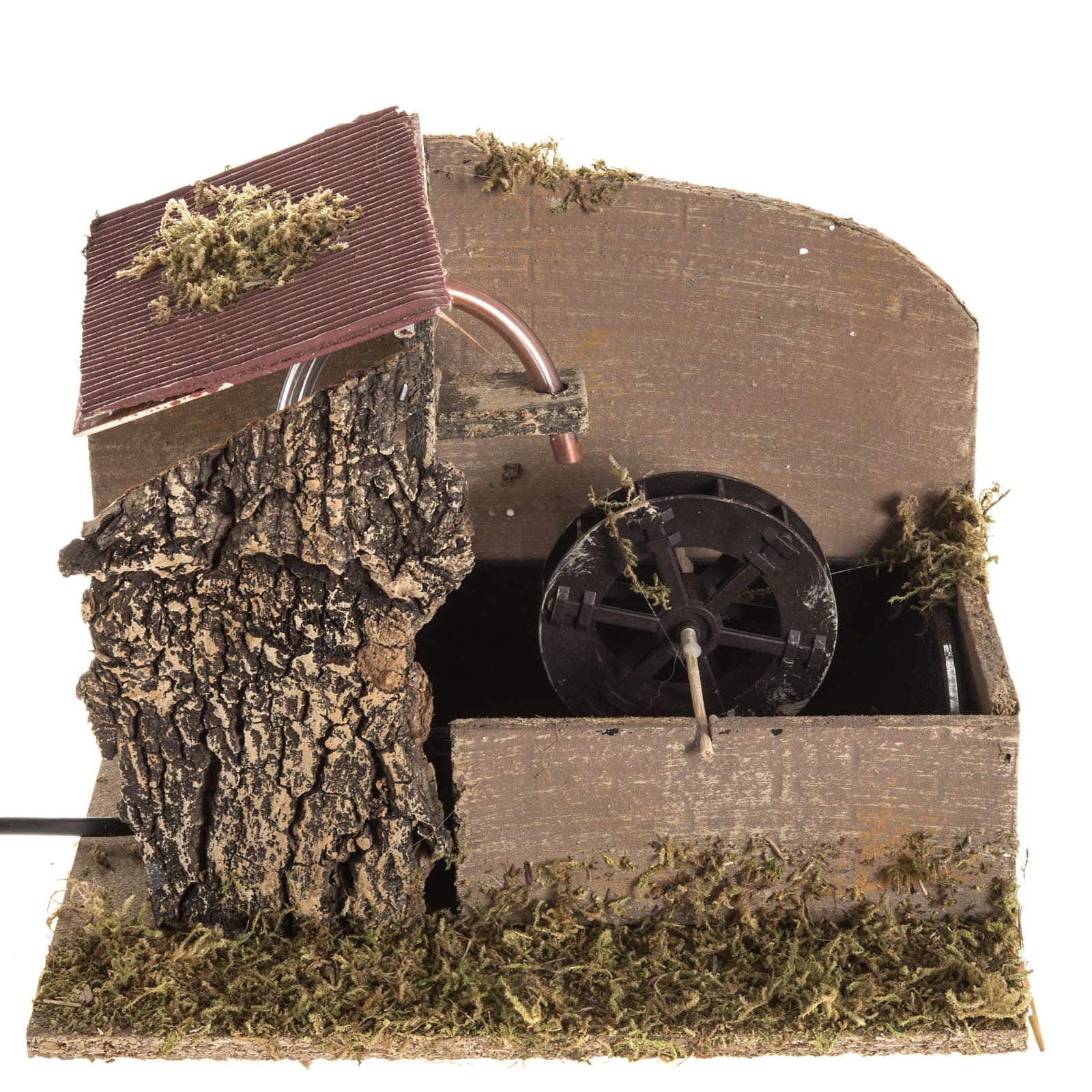 Moulin à eau et maison crèche Noel 2,5W 4