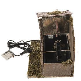 Moulin à eau et maison crèche Noel 2,5W s5