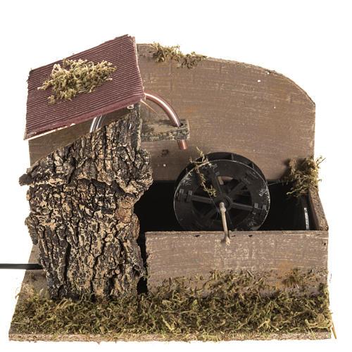 Moulin à eau et maison crèche Noel 2,5W 1