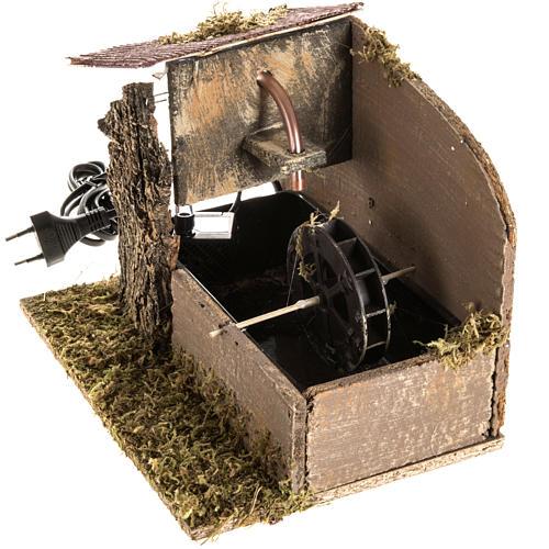Moulin à eau et maison crèche Noel 2,5W 2