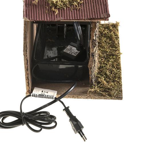 Moulin à eau et maison crèche Noel 2,5W 3
