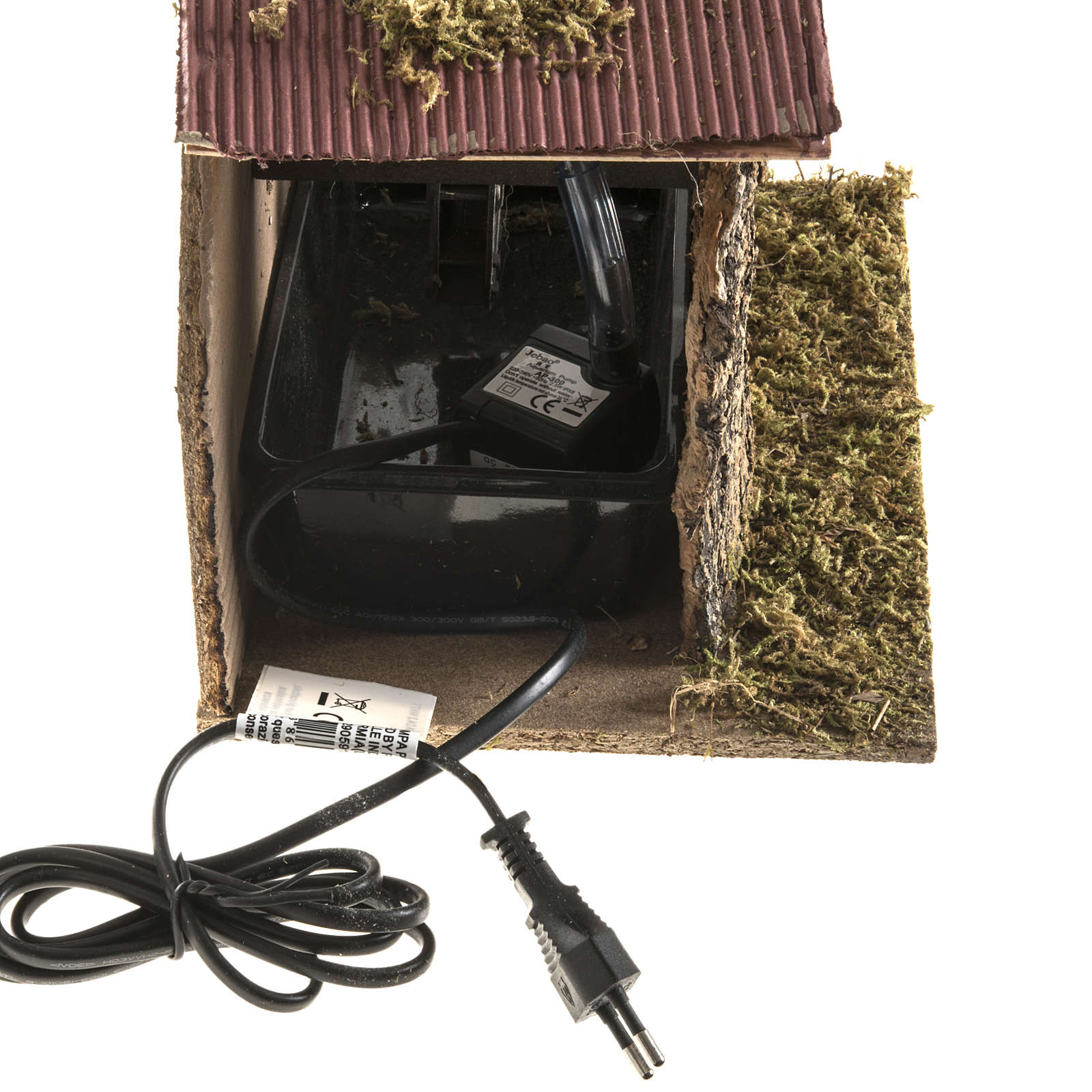 Nativity setting, water mill with house 2,5W 4