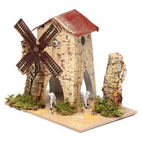 Nativity setting, electric wind mill with sheep 1,2W, 10 turns/m s6
