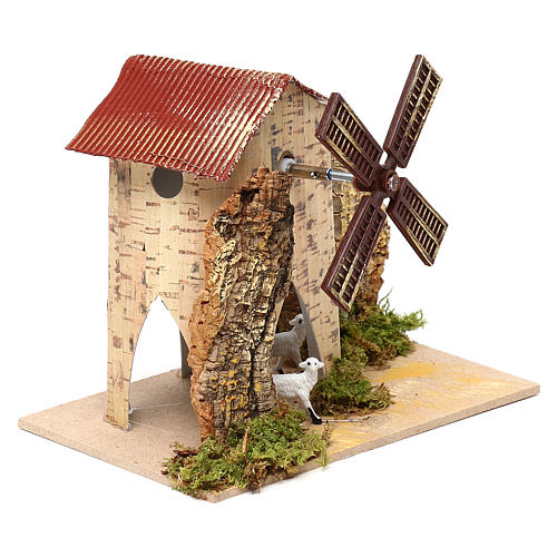 Nativity setting, electric wind mill with sheep 1,2W, 10 turns/m 7
