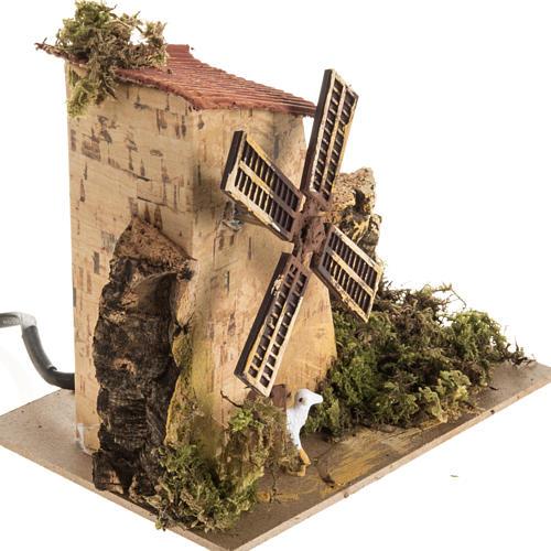 Moulin à vent et moutons crèche Noel 1,5W 10t/m 2