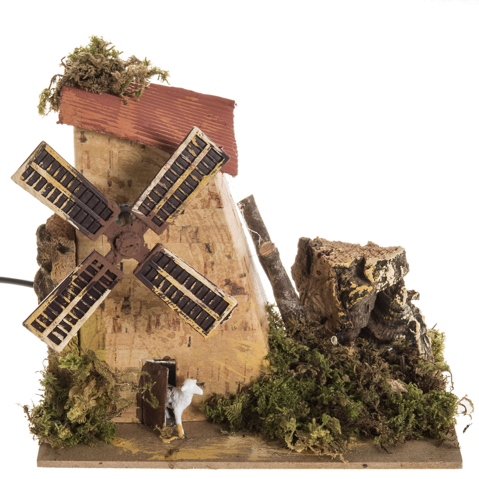 Nativity setting, electric wind mill with sheep 1,2W, 10 turns/m 4