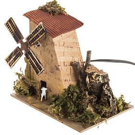 Nativity setting, electric wind mill with sheep 1,2W, 10 turns/m s3