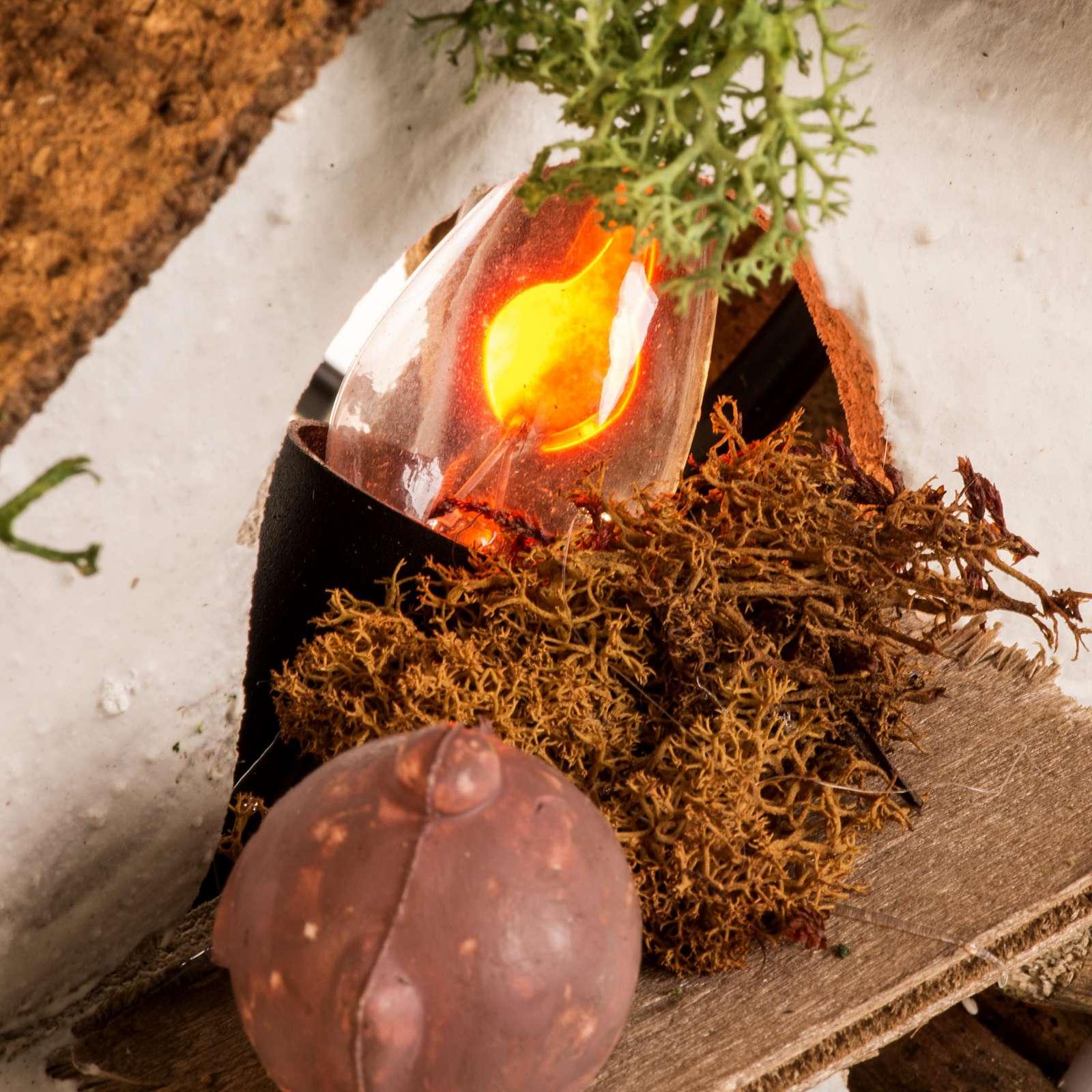 Mini four pour crèche avec ampoule effet flamme 4