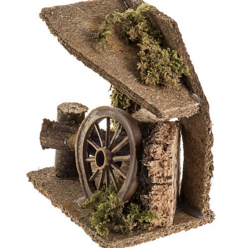 Ambientación con rueda para pesebre 3