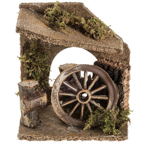Ambientazione con ruota del carro presepe 1