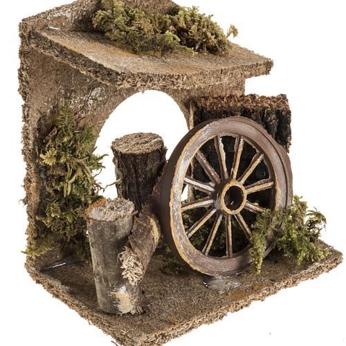 Ambientazione con ruota del carro presepe 2