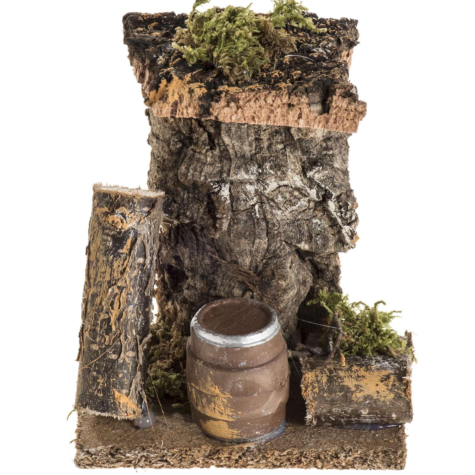Ambientación con barril para el pesebre 4
