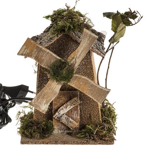 Moulin à vent crèche Noel 4W 15-18t/m 18x13x9 1