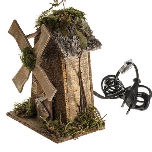 Moulin à vent crèche Noel 4W 15-18t/m 18x13x9 3