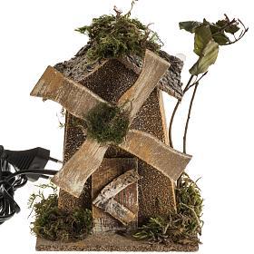 Nativity setting, wind mill 4W, 15-18 turns/minute 18x13x9cm s1