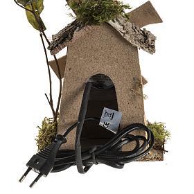 Nativity setting, wind mill 4W, 15-18 turns/minute 18x13x9cm s4