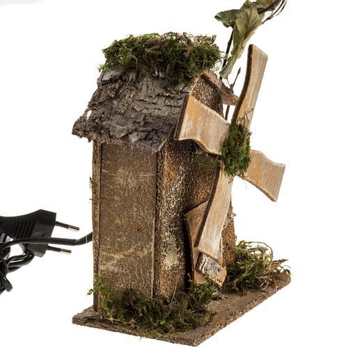 Nativity setting, wind mill 4W, 15-18 turns/minute 18x13x9cm 2