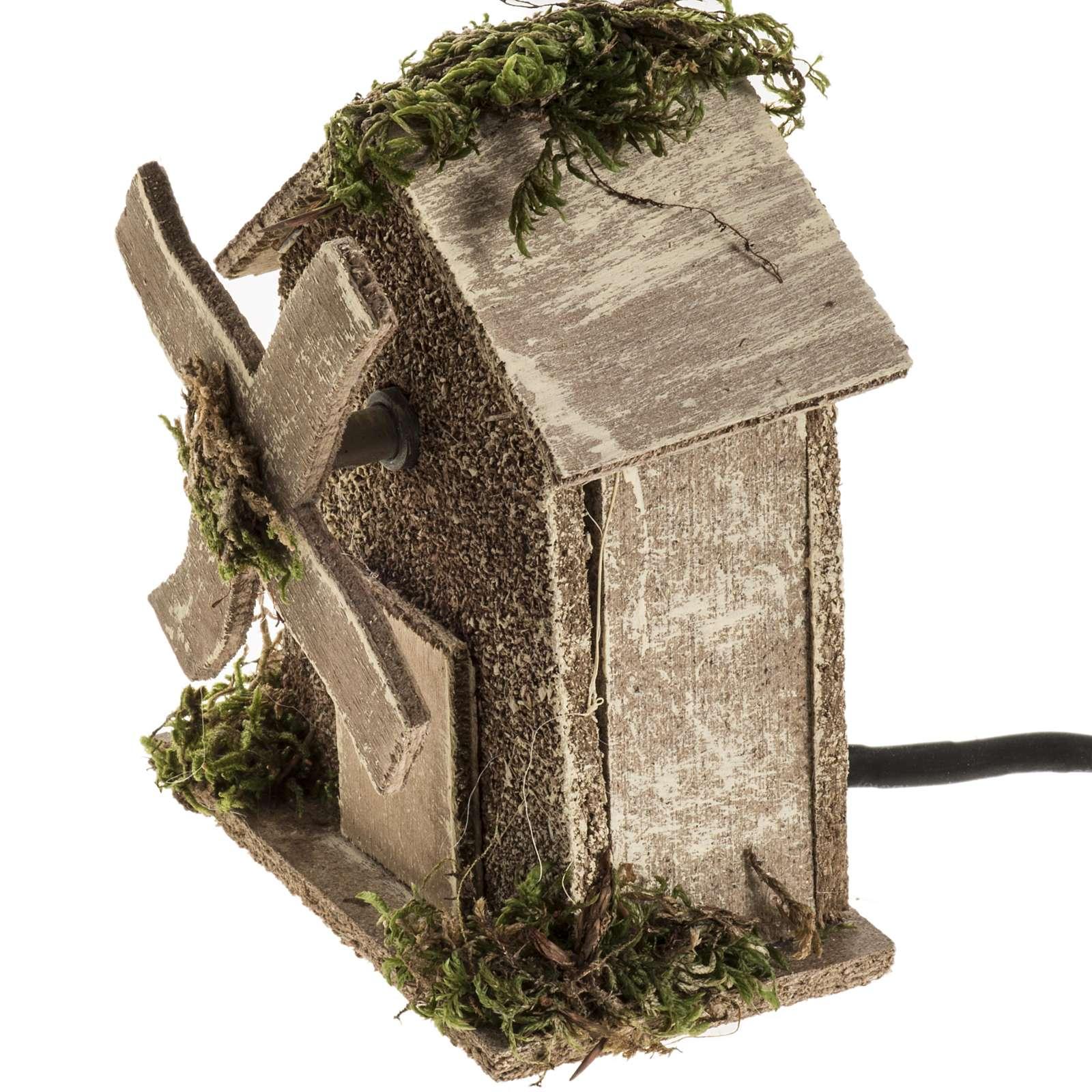Nativity setting, wind mill 4W, 15-18 turns/minute 13x10x6cm 4