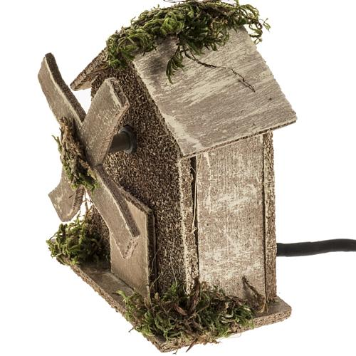 Nativity setting, wind mill 4W, 15-18 turns/minute 13x10x6cm 2