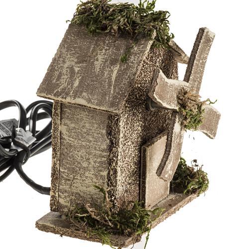 Nativity setting, wind mill 4W, 15-18 turns/minute 13x10x6cm 3
