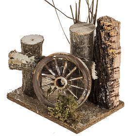 Ambientazione presepe tronchi e ruota carro s3