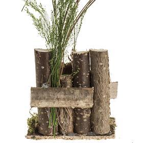 Milieu crèche Noel avec troncs et balance s4