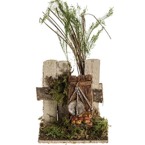 Milieu crèche Noel avec troncs et balance 1
