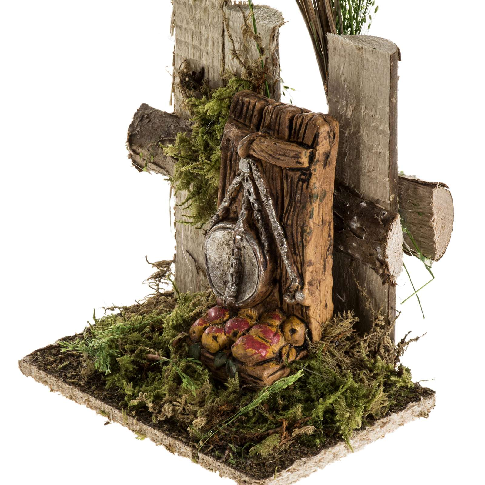 Ambientazione presepe tronchi bilancia frutta 4
