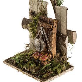 Ambientazione presepe tronchi bilancia frutta s3