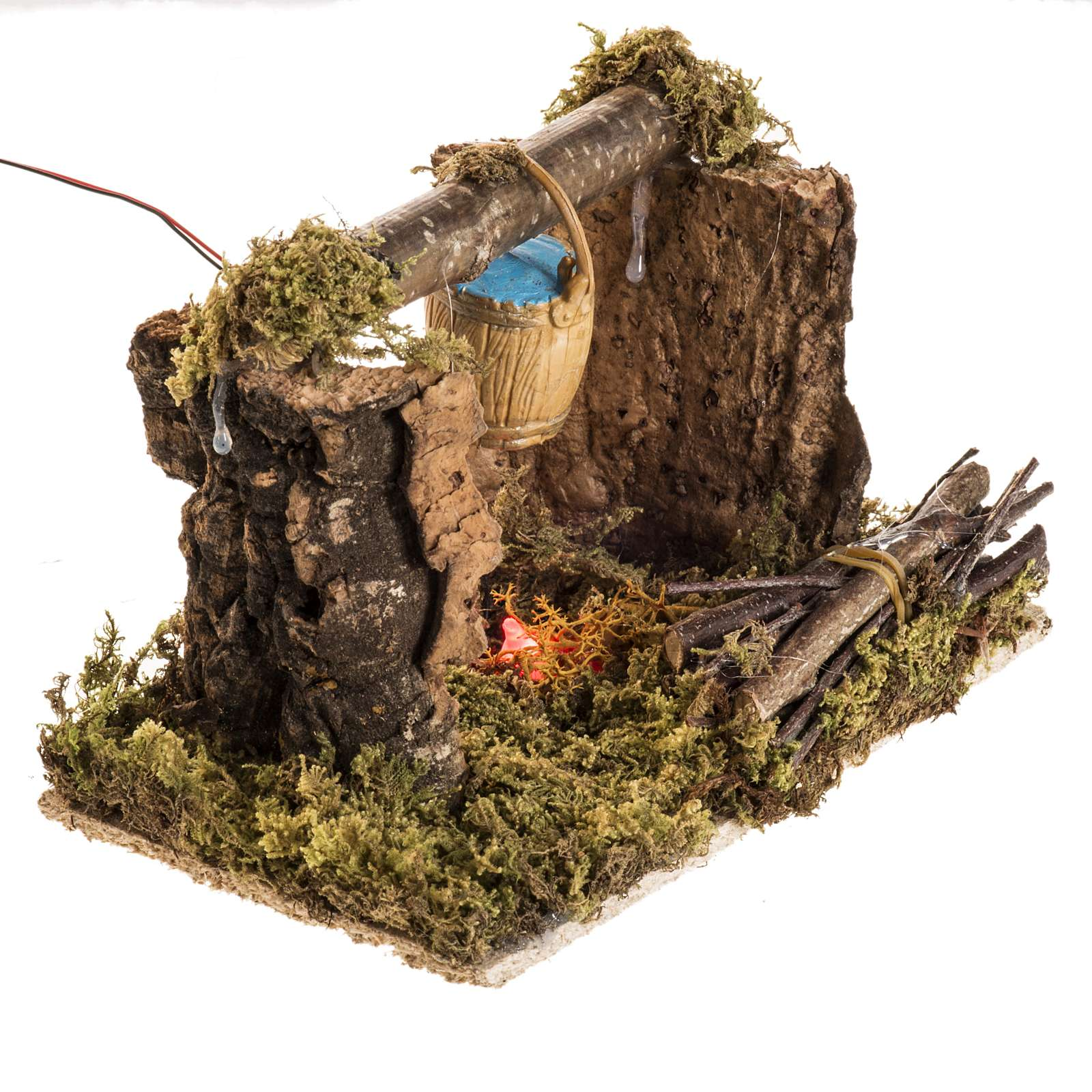 Nativity setting with battery LED fire and bucket 4