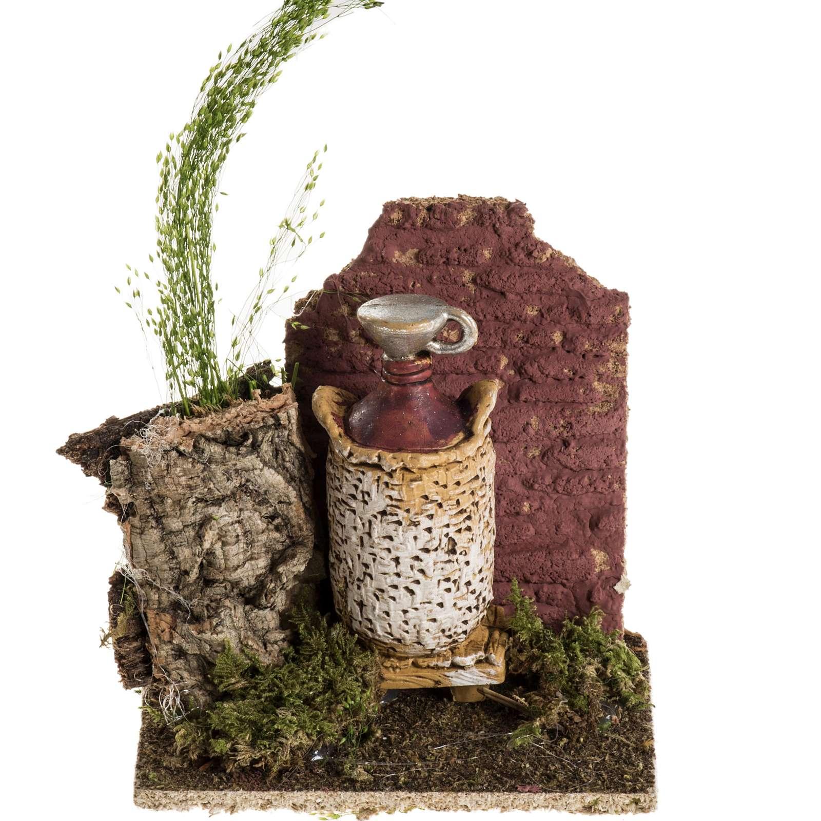 Ambientación damajuana de vino para pesebre 4