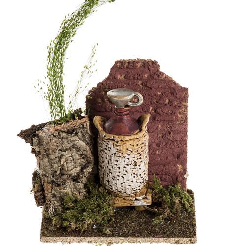 Ambientación damajuana de vino para pesebre 1