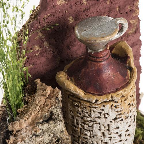 Ambientación damajuana de vino para pesebre 3