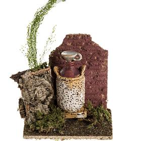 Ambientazione presepe damigiana vino s1
