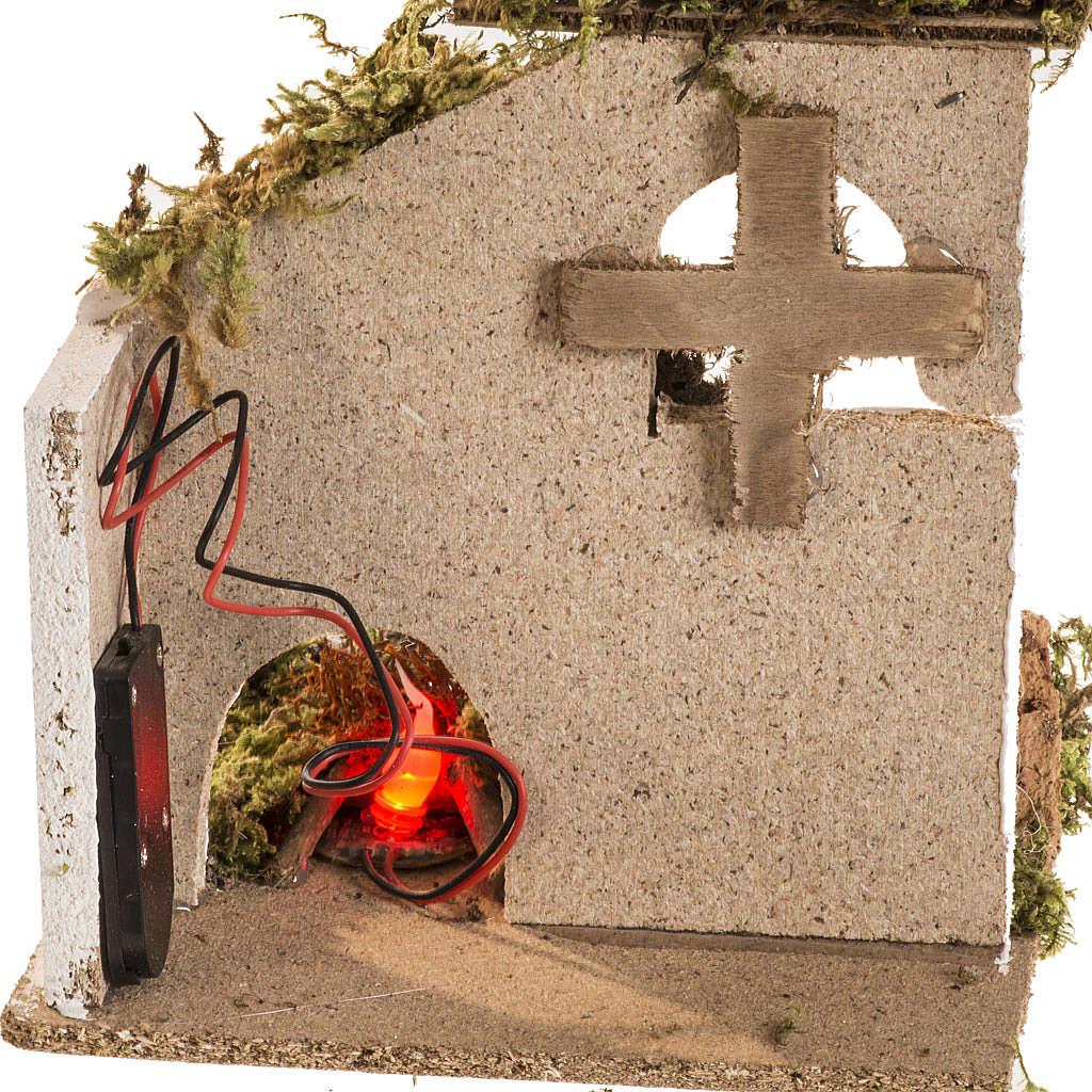 Fuoco led presepe batteria con ambientazione 4