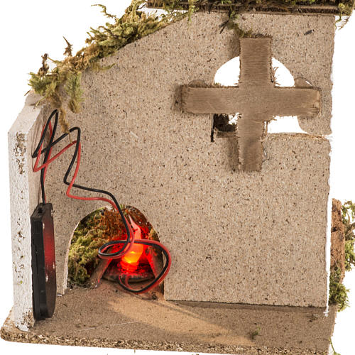 Led fire for nativities, battery powered, with setting 4