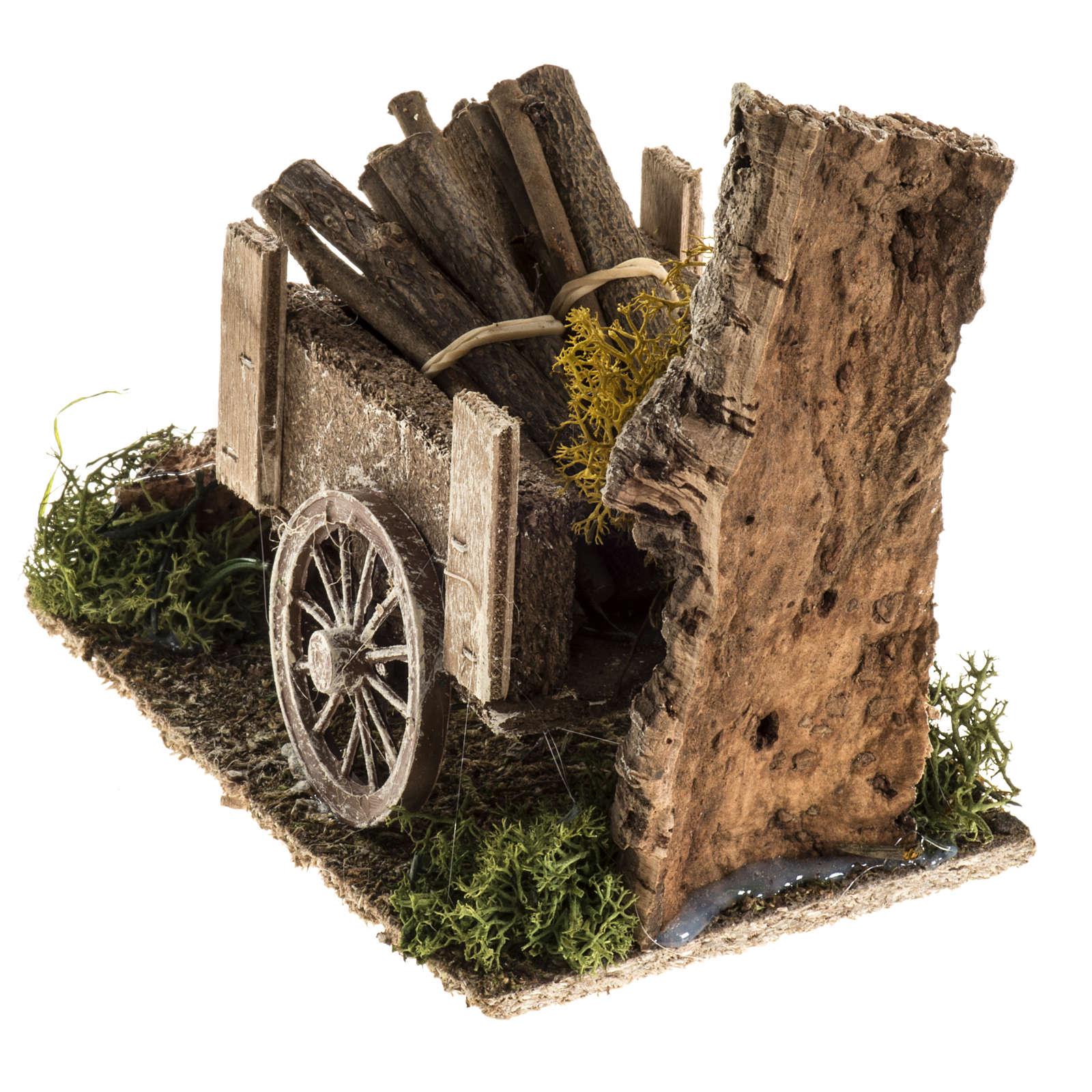 Carretto di legname con ambiente 4