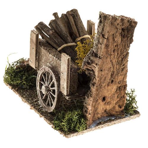 Carretto di legname con ambiente 3