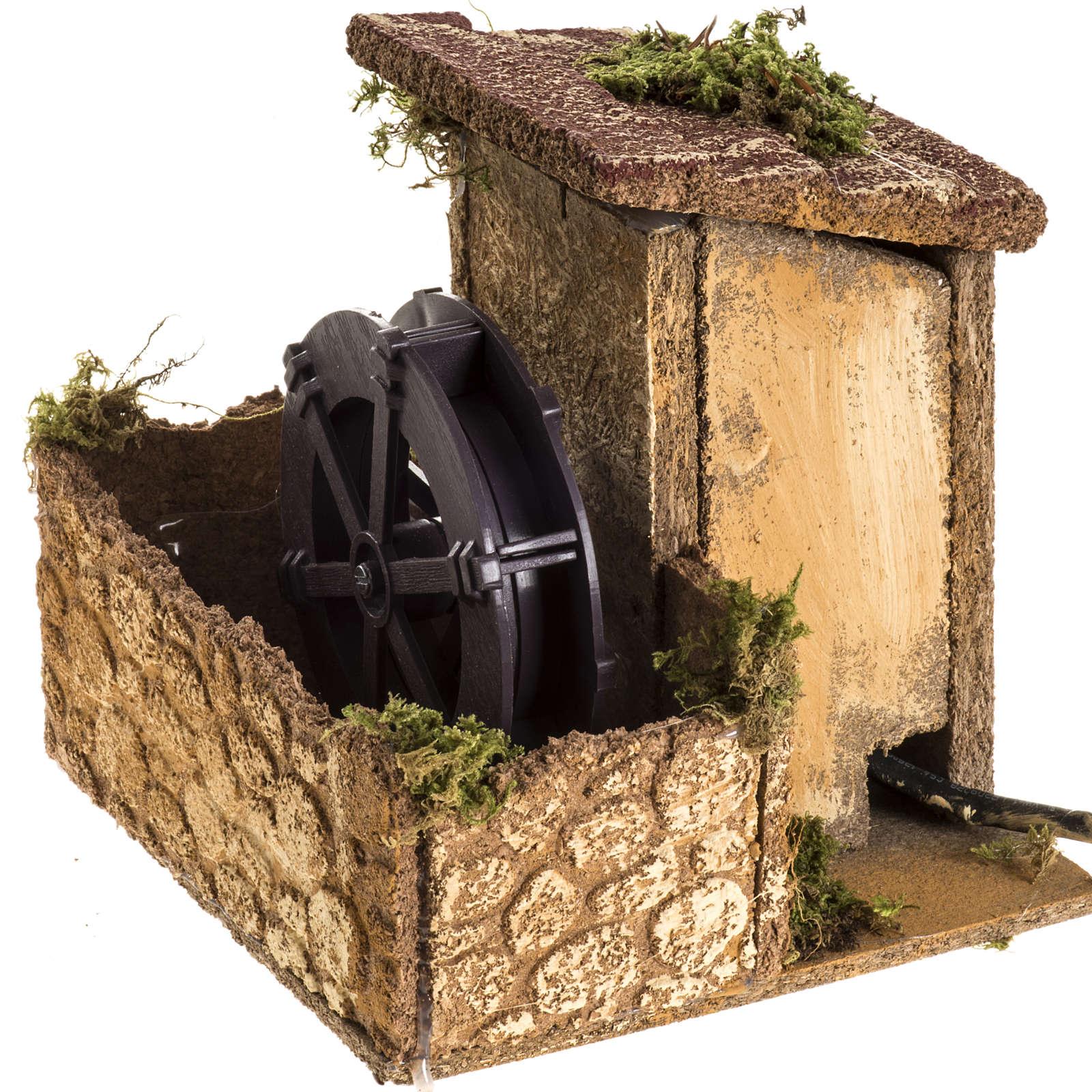 Moulin à eau milieu crèche Noel 15x15x15 4