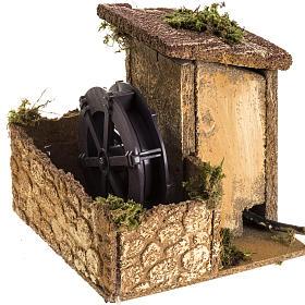 Moulin à eau milieu crèche Noel 15x15x15 s2