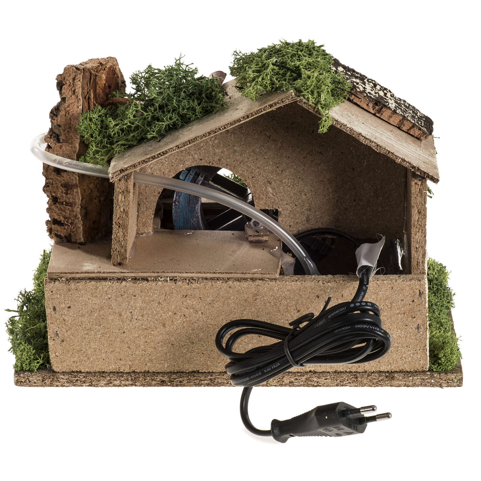 Nativity setting, electric water mill 18x24x18cm 4